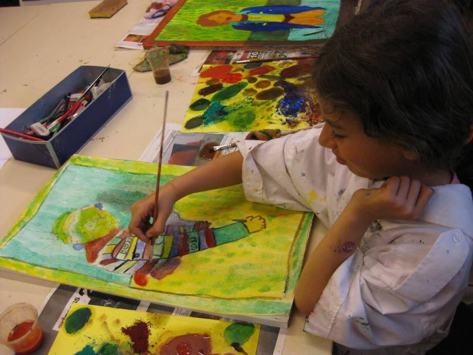 L'atelier peinture du centre culturel est encore ouvert pour les inscriptions aux 5/6 ans.