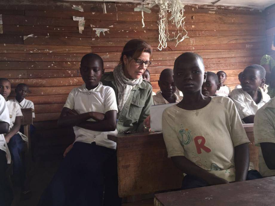La princesse de Hanovre très investie dans son rôle de présidente de l'Amade mondiale a fait le tour de toutes les actions en faveur des jeunes, initiées en République démocratique du Congo. (D. R.)