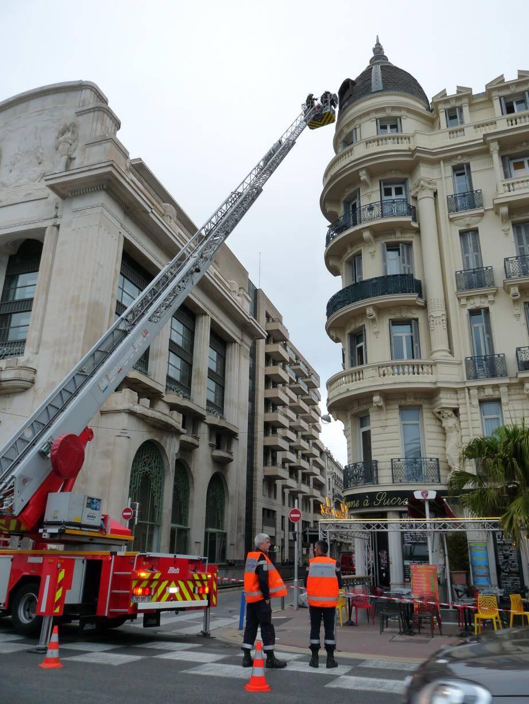 Huit sapeurs-pompiers sont intervenus, hier.