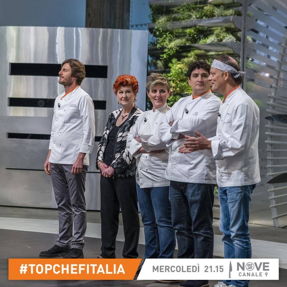 Mauro Colagreco aux côtés des autres jurés de l'émission « Top Chef ».(DR)
