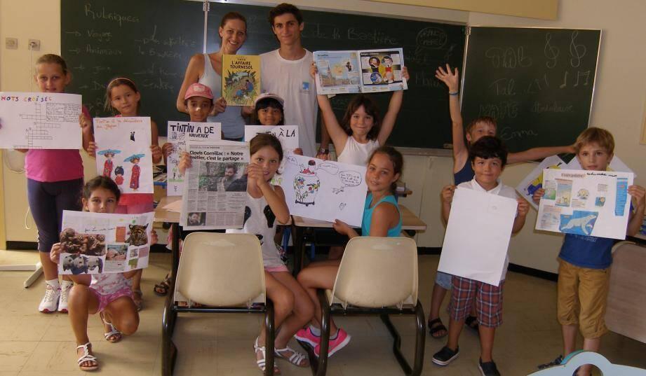 L'été dernier, les enfants ont adoré élaborer un journal et une BD.