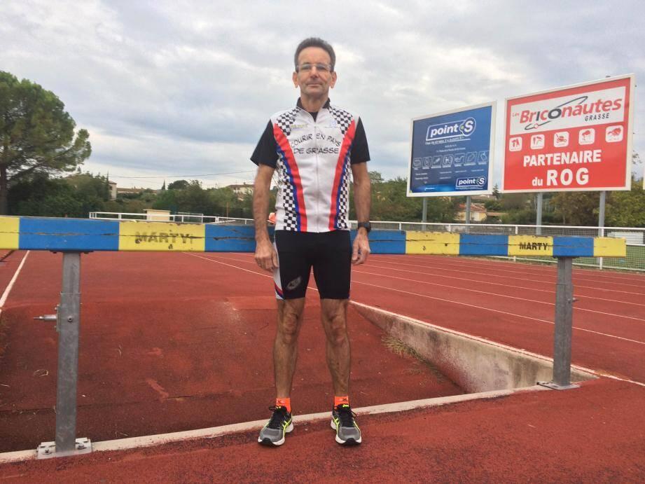 Alex Demichelis, du CPG, nouveau recordman de l'heure sur piste chez les M65 !