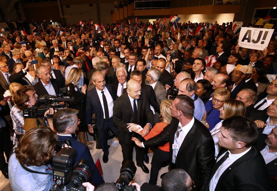 La maison communale Gérard-Philipe, à La Garde, a dépassé les 1 500 personnes hier soir, à la faveur du meeting du candidat à la primaire de la droite et du centre Alain Juppé.