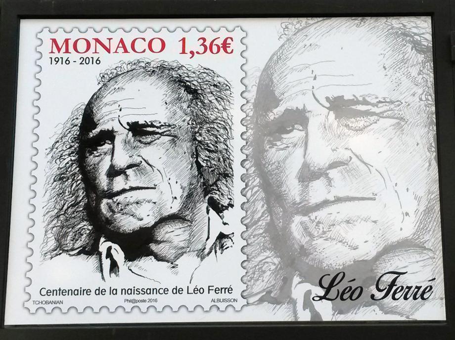 Le timbre centenaire Léo Ferré.(DR)