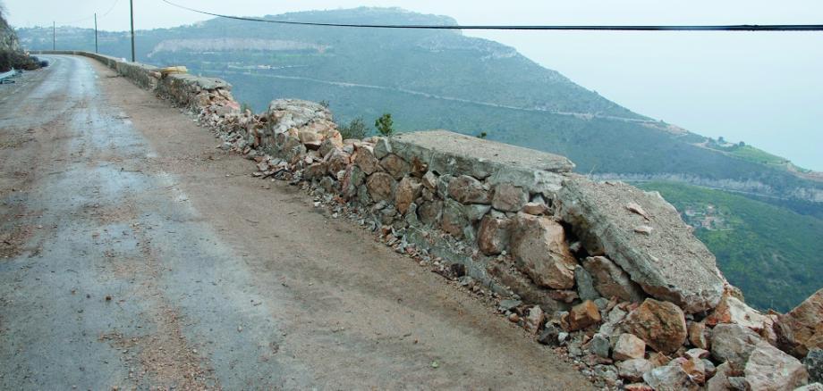 Les travaux ont repris sur la grande corbniche, au lieu-dit Culassa.