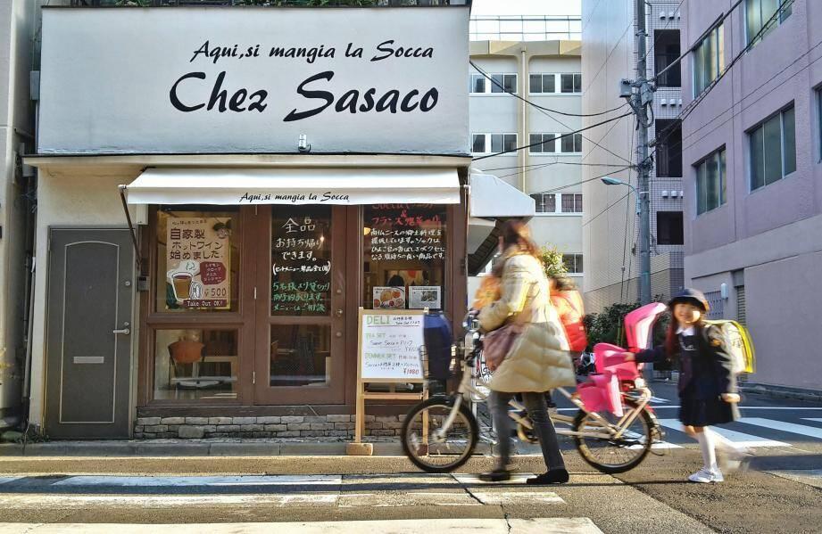 Le restaurant d'Emiko, en plein Tokyo, a fermé en décembre dernier. Mais la socca au Japon a de l'avenir...