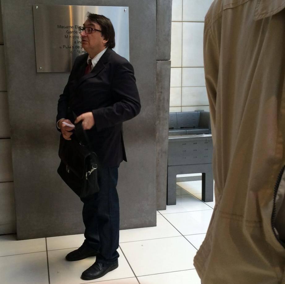 Ignace Grifo lors de son arrivée au tribunal.