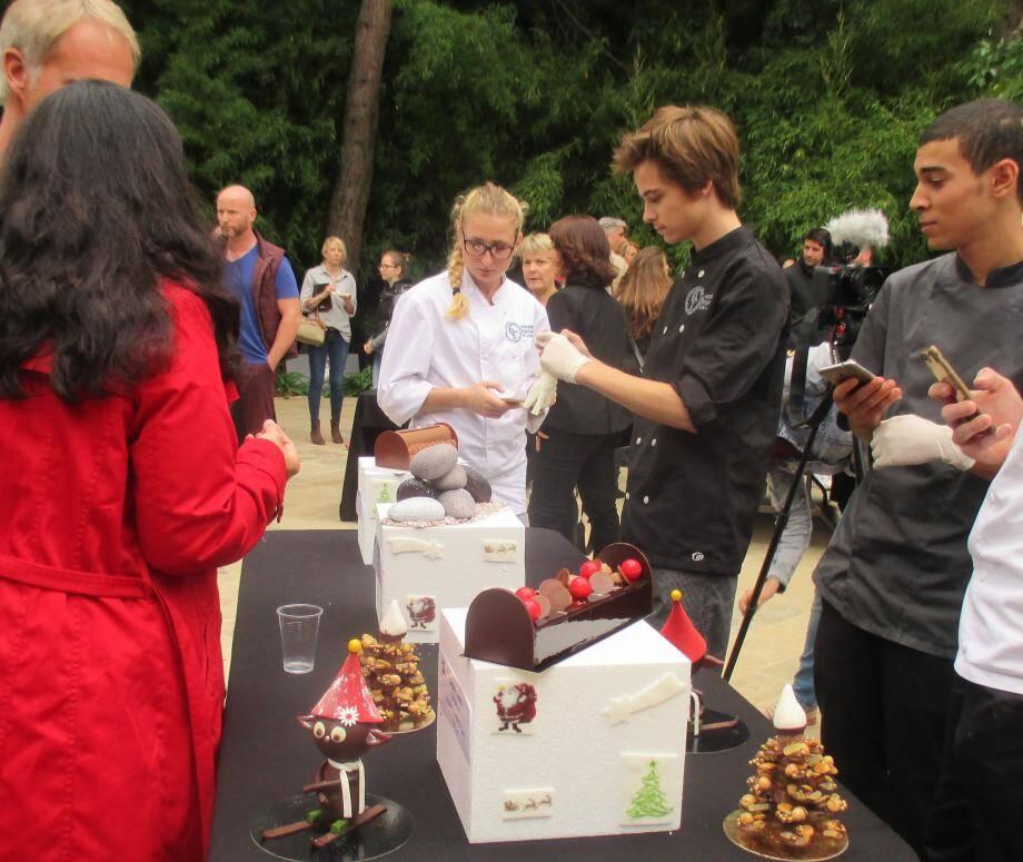 L'événement était parrainé par Michel Durieux, chef pâtissier de l'hôtel Majestic.