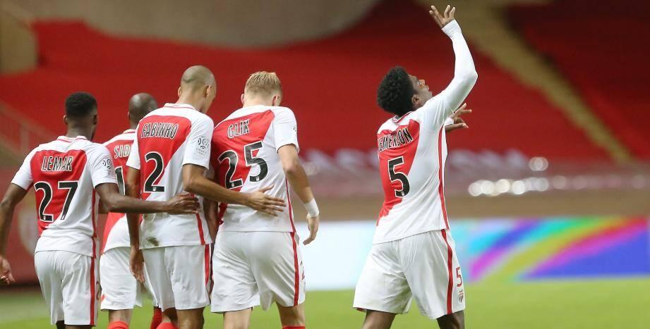 Monaco le 21/10/2016 - Stade Louis II - Championnat de France de football - Ligue 1 - 10eme journee - L AS Monaco FC recoit Montpellier Herault - Le defenseur Monegasque JEMERSON N5.
