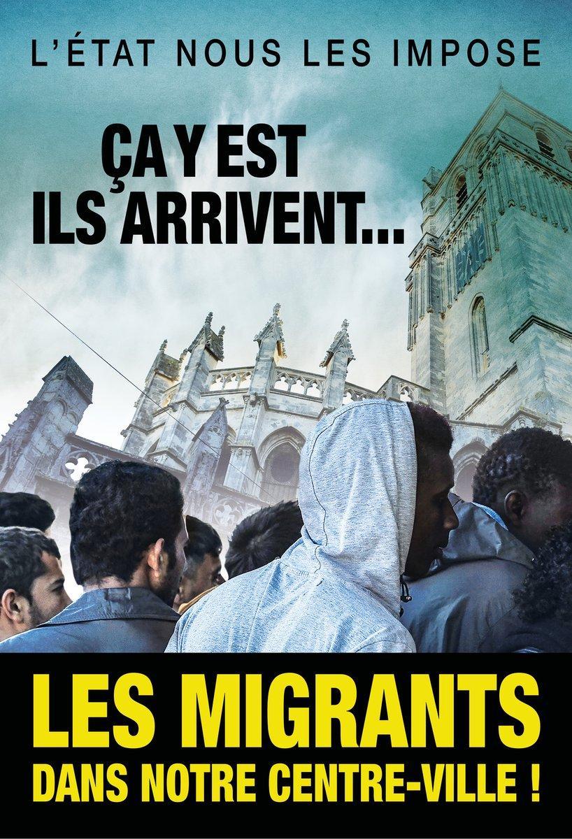 Affiche anti-migrants.
