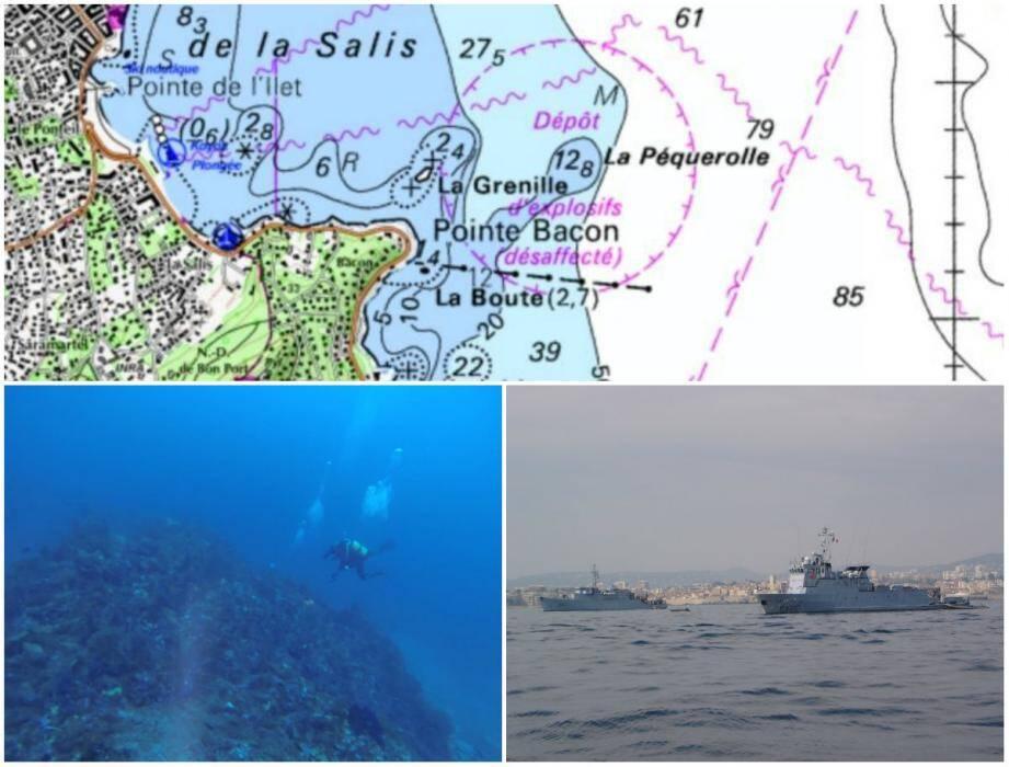 Pas d'interdiction signalée pour cette zone. Pourtant, même si le dépôt est désaffecté, cela ne veut pas dire qu'il n'y a plus d'explosifs. Accessible, le sec de la Péquerolle est fréquenté par des clubs de plongée. Les démineurs sous-marins de Toulon viennent parfois s'entraîner sur le site.