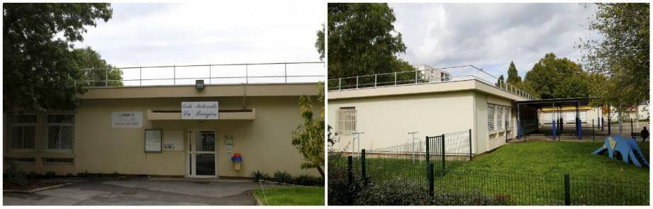 Vues Nord et Sud de l'école maternelle de La Frayère.