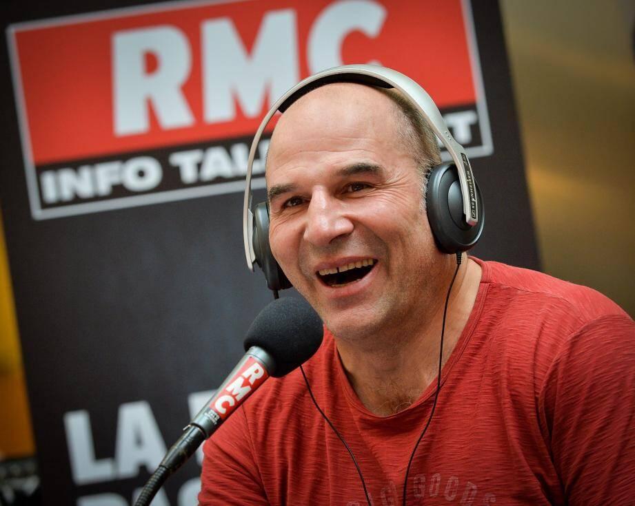 L'animateur de RMC est en direct du Grimaldi Forum à l'occasion du Sportel, et à nouveau aujourd'hui de 16 heures à 18 heures.