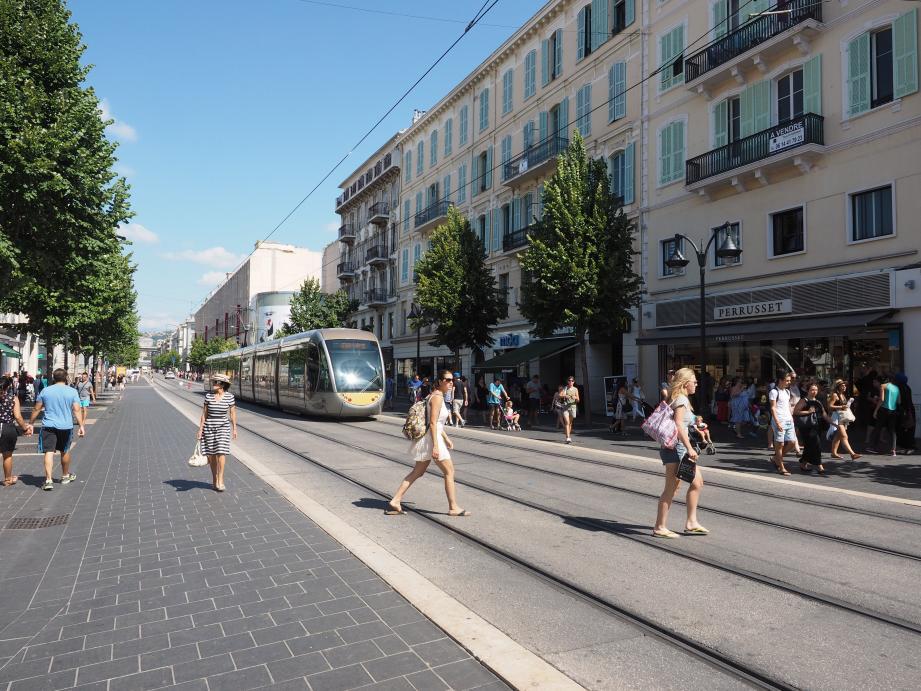 L'avenue Jean Médecin à Nice.