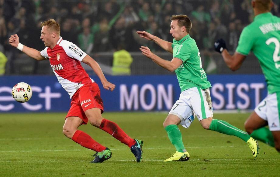 L'AS Monaco a ouvert le score face à Saint-Etienne grâce à un but de l'inévitable Glik
