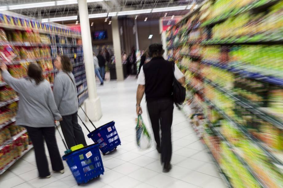 Illustration d'un supermarché.
