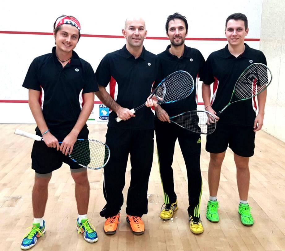 L'équipe première du club de squash monégasque évolue en Nationale 3.