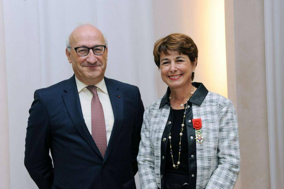 Philippe Étienne, ambassadeur de France en Allemagne, et Isabelle Berro-Amadeï, ambassadeur de Monaco en Allemagne.(DR)