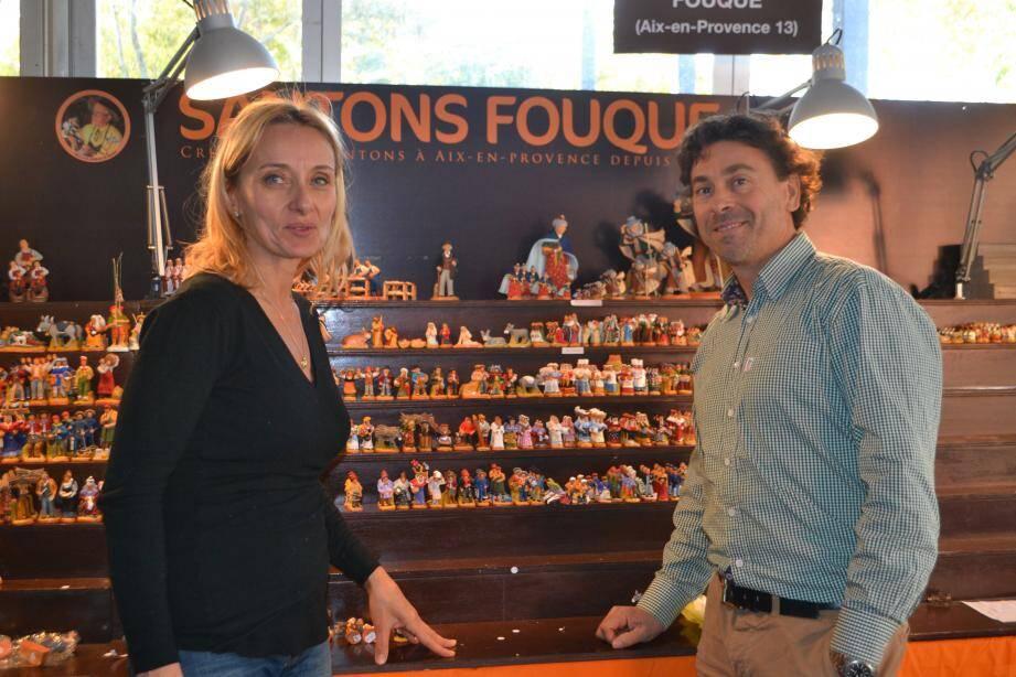 Michel et Caroline Fouque sont présents sur la foire.