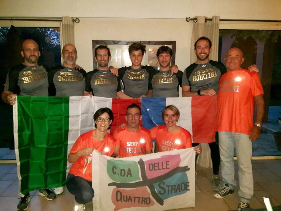 Ils s'appellent tous Bufalini, une team en relais redoutable !