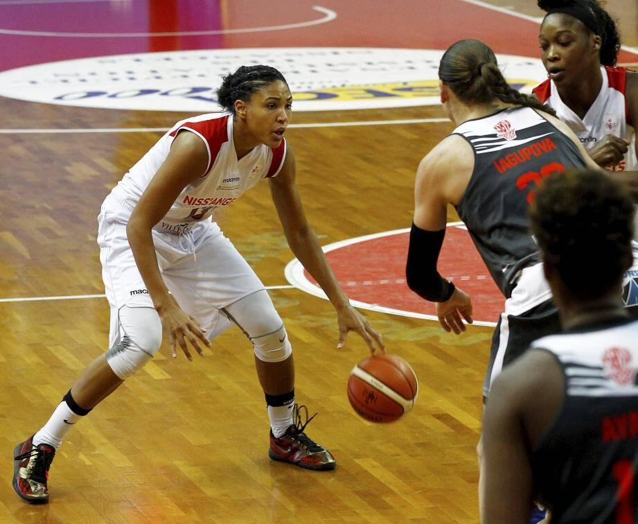 Ambrosia Anderson, meilleure marqueuse de la rencontre avec 18 points.