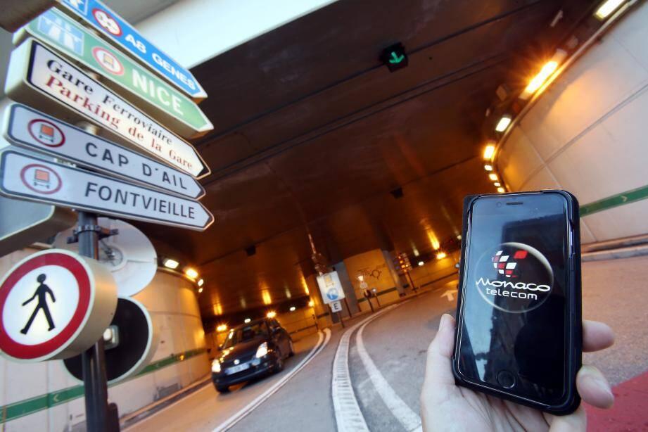 Les tunnels et galeries souterraines sont dorénavant couverts à 70%, selon Monaco Telecom, et devraient l'être à 100% d'ici à 2018.