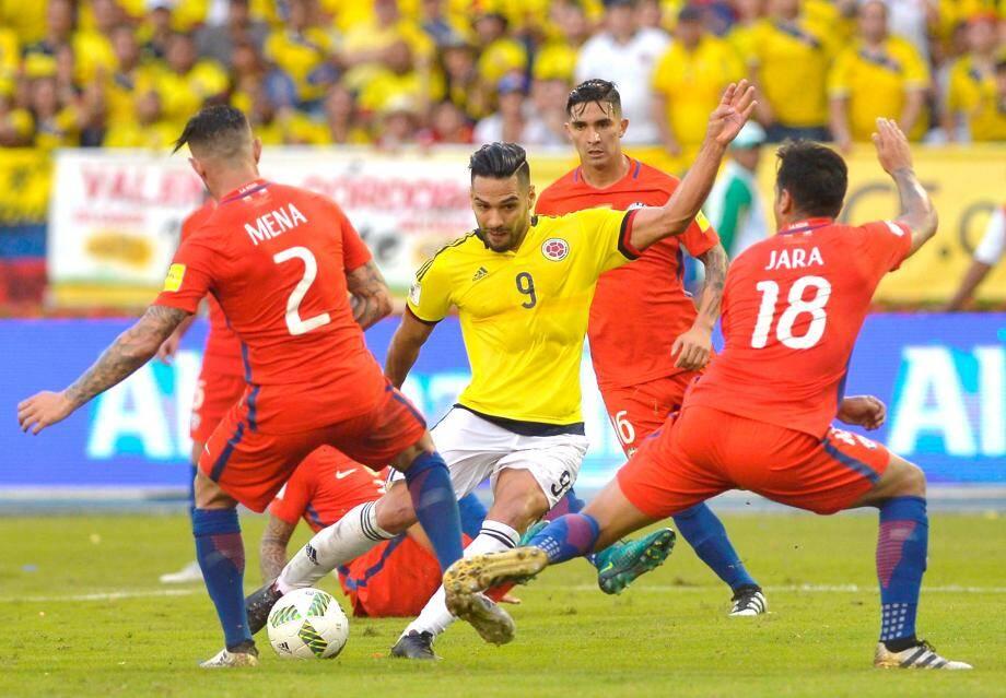 Radamel Falcao, affrontait hier soir l'Argentine avec la Colombie.