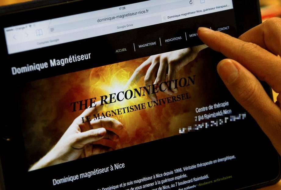 À 71 ans, le magnétiseur vanté sur ce site web dort en prison.