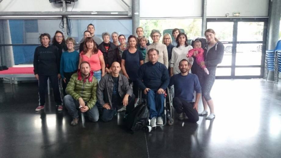 Les participants au stage de découverte du Tai Chi étaient réunis  à la salle de la mer à Cap d'Ail.