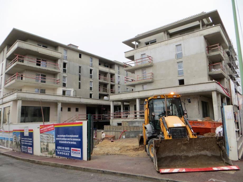 Le chantier de cette première partie de l'Eco Quartier est actuellement dans les délais.