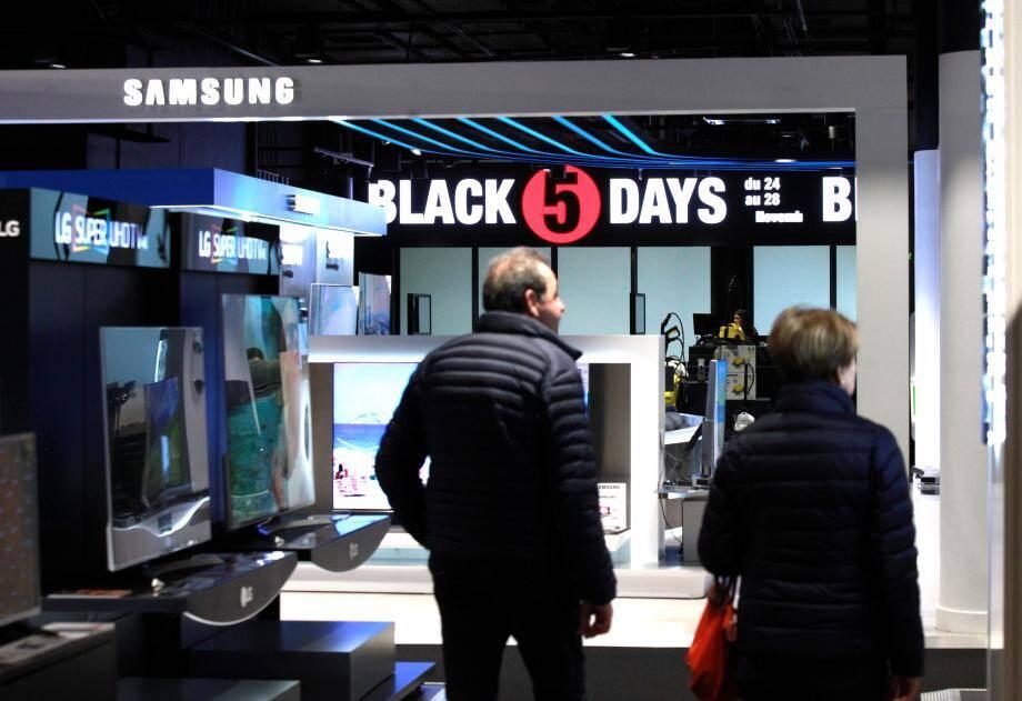 Certaines enseignes accompagnent le « Black Friday » (ici Ubaldi à Nice). L'opération «made in USA» devrait monter en puissance dans les prochaines années.