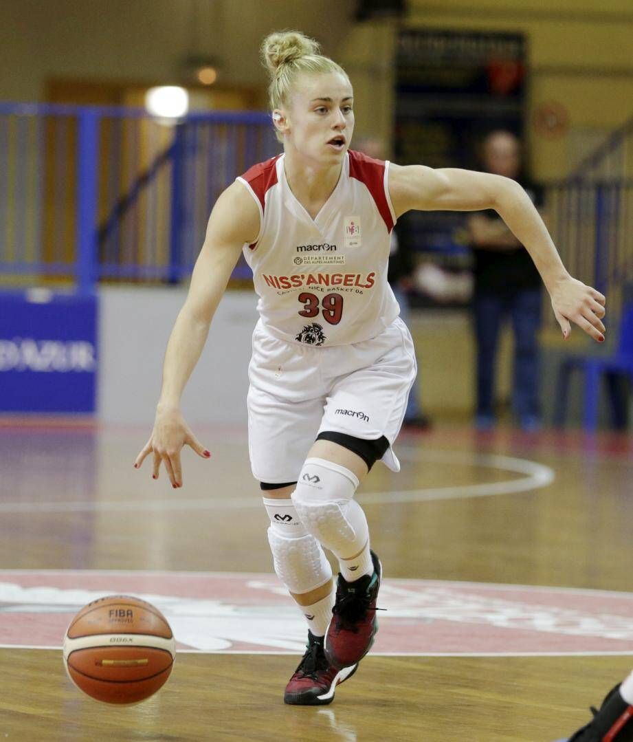 Alix Duchet et les Niçoises veulent revenir à hauteur de Basket Landes, cet après-midi.