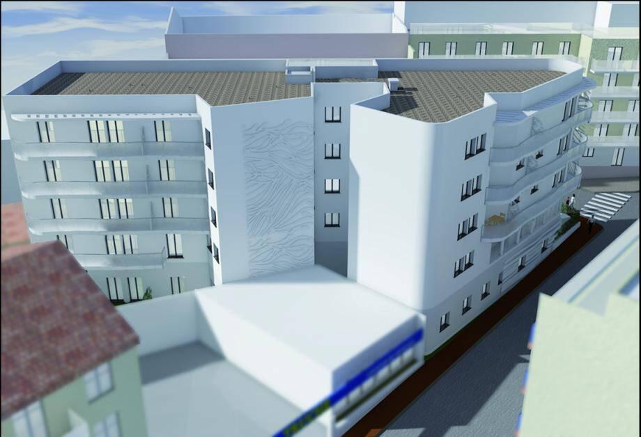 « L'Arabesque » est actuellement en construction (photo ci-dessous). Vue sous cet angle, la résidence ressemblera, une fois livrée, à un paquebot.