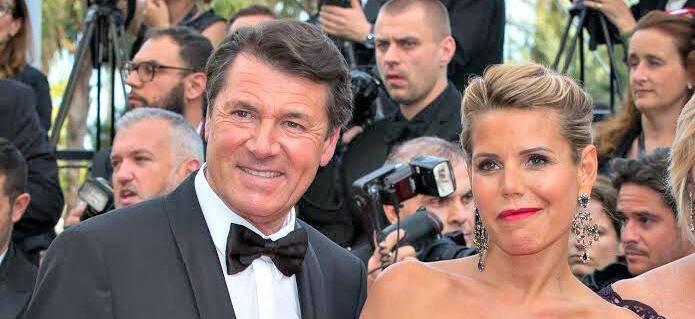 Christian Estrosi et Laura Tenoudji au festival de Cannes 2016.