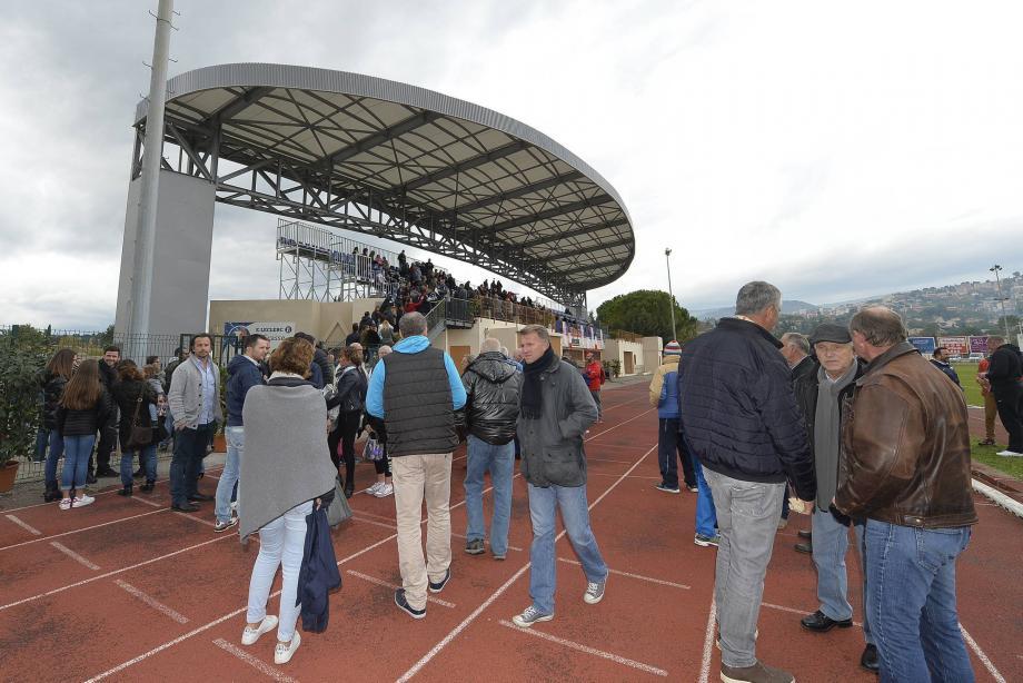 L'inauguration de la tribune du stade Perdigon