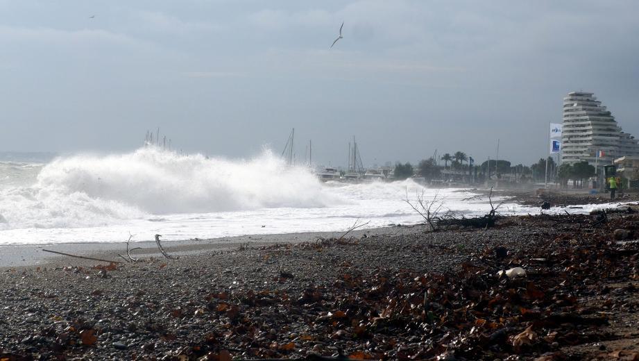 Les plages de Villeneuve-Loubet ce mercredi.
