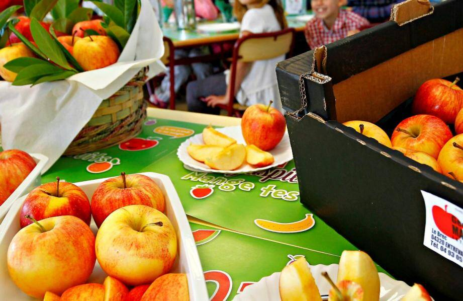 opération mange tes fruits a l'école elementaire fabron