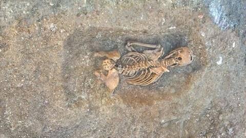 L'un des squelettes découvert la semaine dernière.