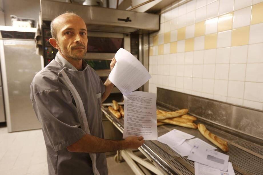 Frédéric Roy, un boulanger qui compte bien mener son combat à la baguette.
