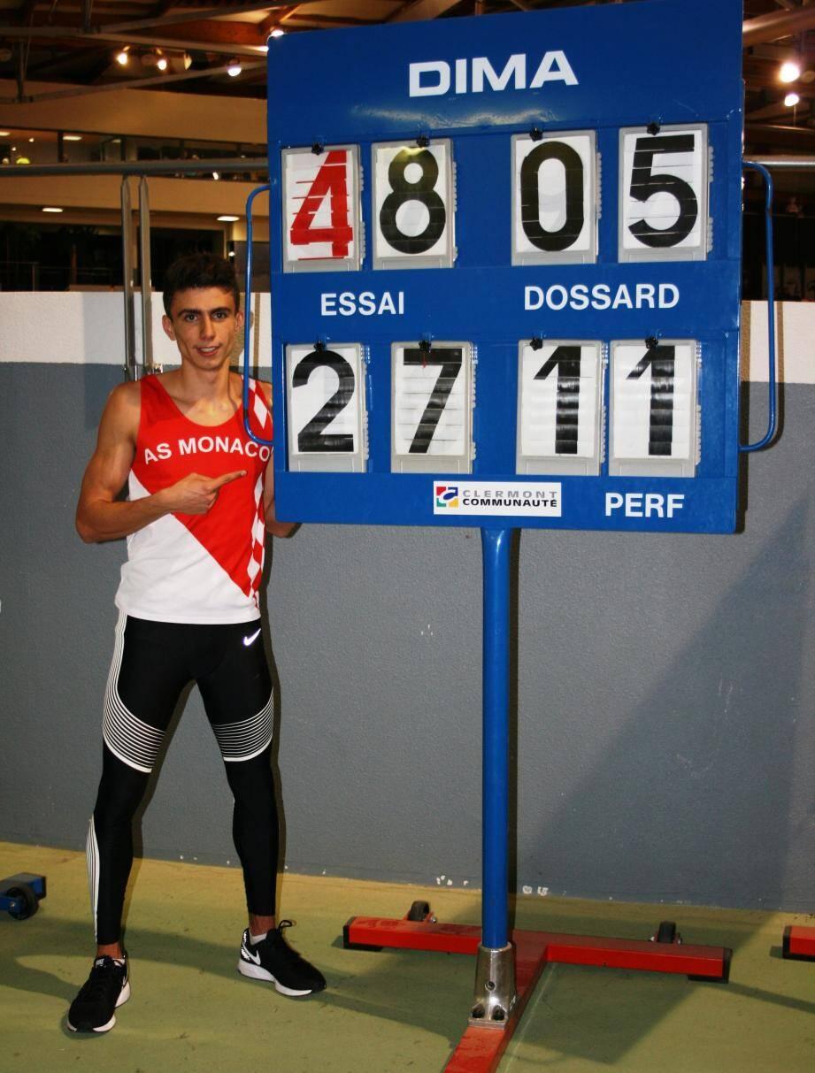 Téo Andant, nouveau recordman de France sur 400 mètres indoor en catégorie cadet. (DR)