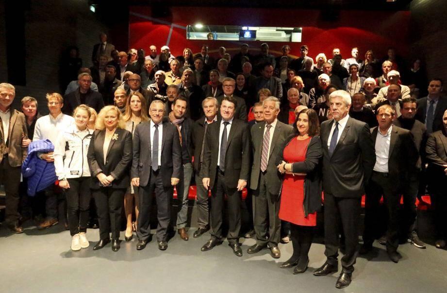 Christian Estrosi, président de la Région a détaillé, hier soir, au Musée du sport, le soutien financier consenti aux clubs et communes des Alpes-Maritimes.
