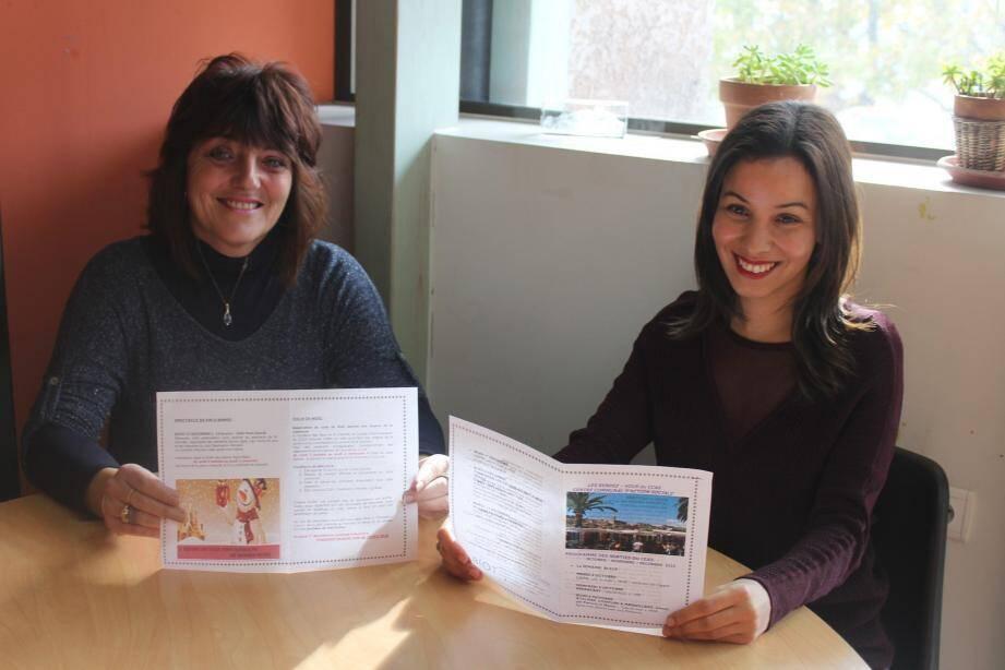 Martine Latty et Khera Badaoui préparent le programme des festivités de fin d'année.