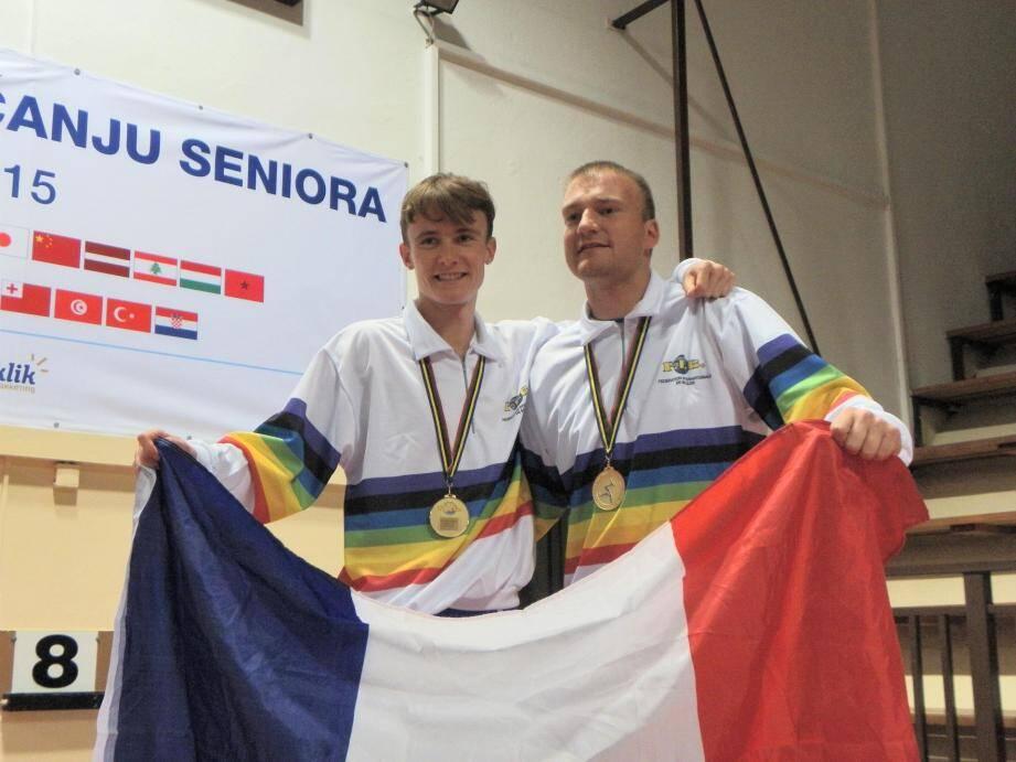 En Croatie l'an dernier, Guillaume Abelfo et Grégory Chirat avaient été medaillés d'or en tir progressif et de précision.Ils sont attendus à Nice cette année.