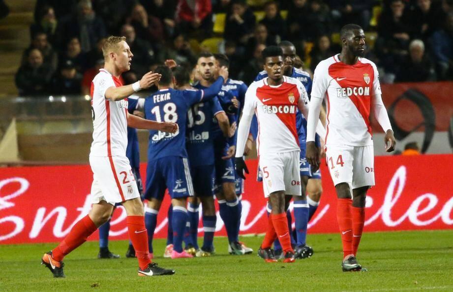 Le Monaco de Glik, Jermerson et Bakayoko chute pour la première fois de la saison au Louis-II.