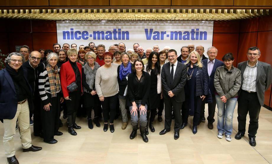 Une partie des très nombreux correspondants du groupe Nice-Matin s'est retrouvée au siège du journal afin de partager un moment ensemble à l'approche des fêtes de fin d'année.