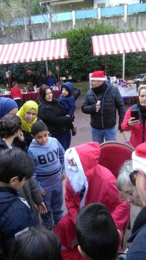 Lors de la venue du père Noël. (DR)