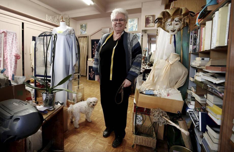 Françoise Gorry-Deswarte, dans la boutique où elle a passé sa vie.