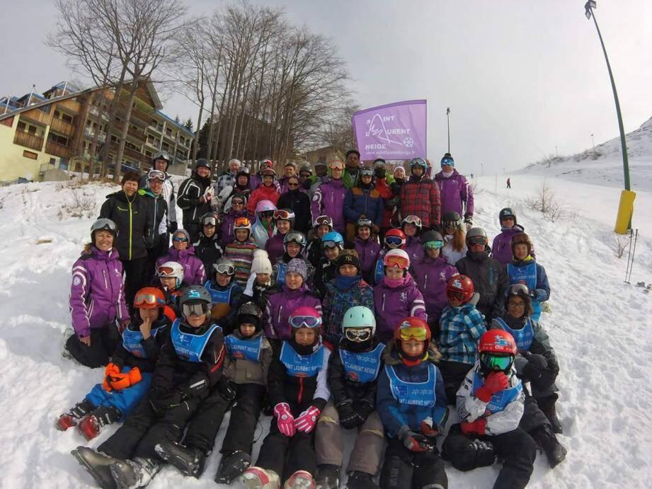 Les jeunes du Ski Club Saint-Laurent Neige prêts pour une nouvelle saison. (D.R.)