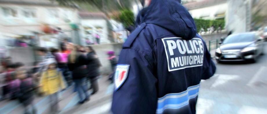 Illustration d'un policier municipal.