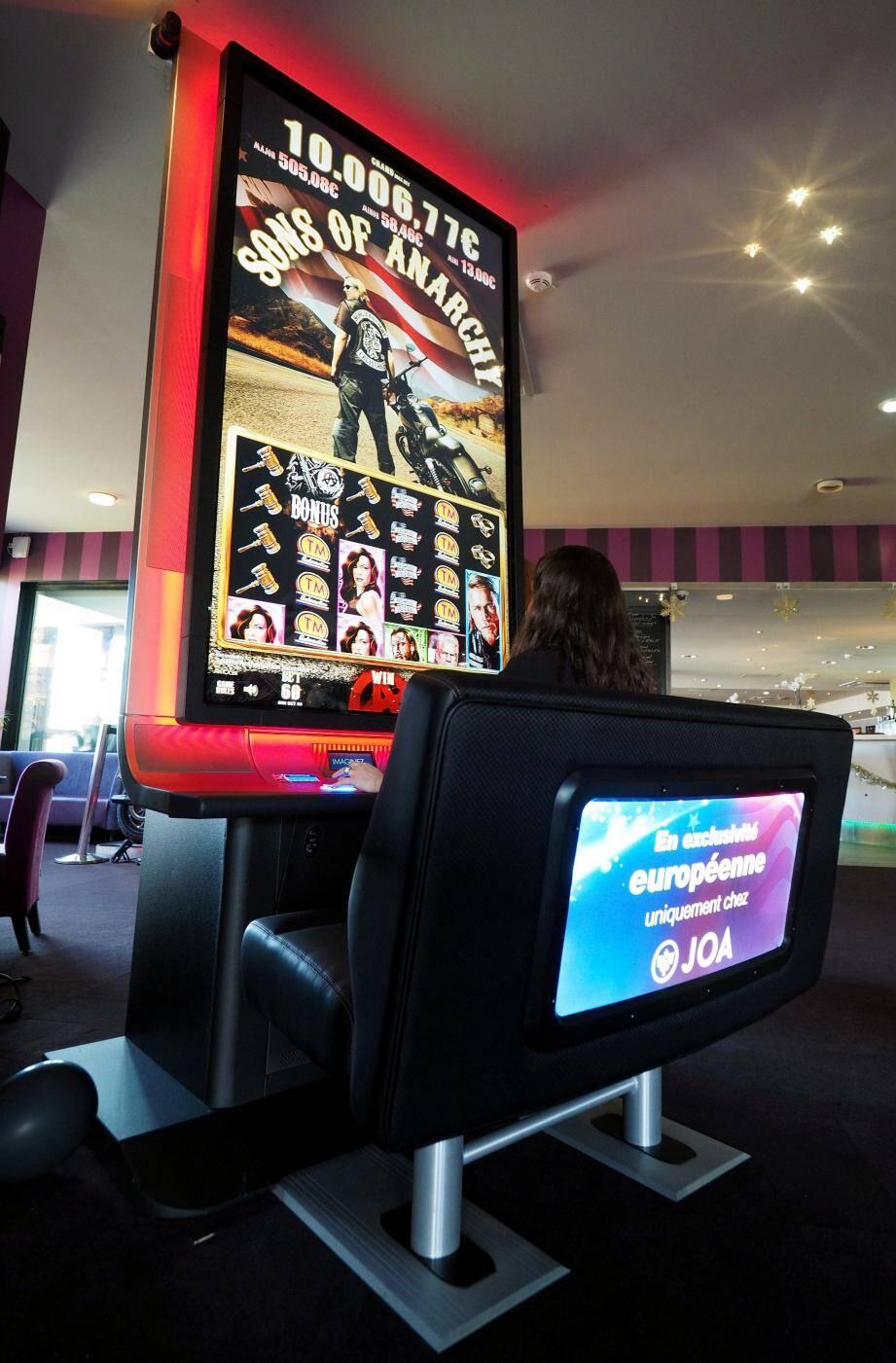 Cette machine à sous est située au casino de La Siesta.